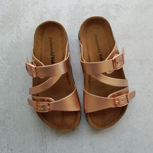 Outwoods Kids Rose Gold Sandals Size 11